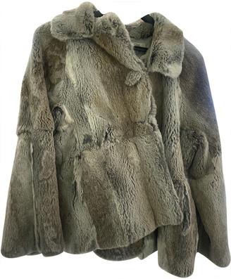 Gerard Darel Grey Rabbit Coats