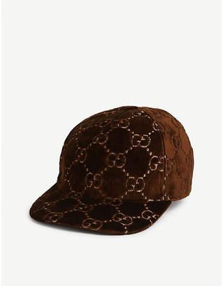 Gucci GG monogram velvet baseball cap