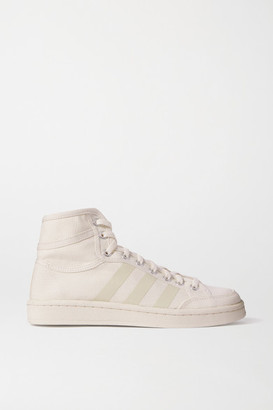 adidas Americana Decon Rubber-trimmed Canvas High-top Sneakers - White