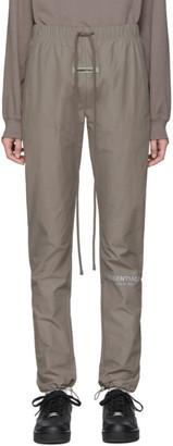 Essentials Grey Nylon Track Pants