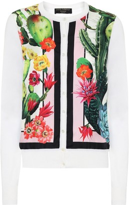 Dolce & Gabbana Exclusive to Mytheresa Printed silk and cashmere cardigan