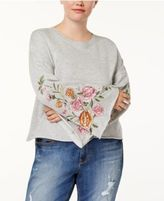 Planet Gold Trendy Plus Size Embroidered Sweater