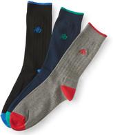 3-Pack Colorblocked Crew Socks