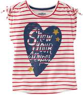 "Osh Kosh Girls 4-8 Show Your Stripes"" Heart Graphic Tee"