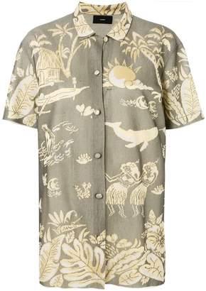Alanui woven pattern shirt