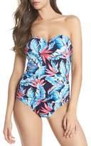 Tommy Bahama Palms of Paradise Bandeau One-Piece Swimsuit