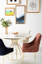 Anthropologie Slub Velvet Elowen Chair