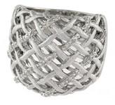 Effy Jewelry Effy 925 S. Silver Open Lattice Diamond Ring, .19 TCW