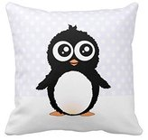 Pillowcase 2421 Cute Penguin Cartoon Pillow Cushion Cover Fashion Home Decorative Pillowcase Cotton Polyester Pillow Cover(45cm x 45cm, One Sides)
