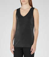 Reiss Fee Metallic Tank Top