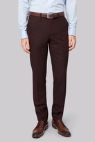 Moss Bros Skinny Fit Oxblood Donegal Pants