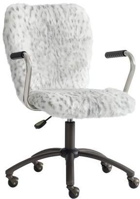 Pottery Barn Teen Gray Leopard Airgo Desk Chair, Armchair