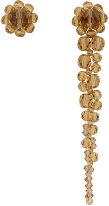 Simone Rocha Orange Mini Drip Stud Earrings