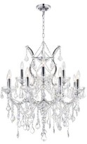 clear Orr 13-Light Candle Style Classic / Traditional Chandelier Astoria Grand Color: Chrome, Crystal Color