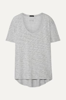 ATM Anthony Thomas Melillo Boyfriend Slub Supima Cotton-jersey T-shirt - Light gray