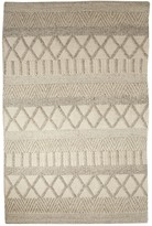Contemporary Pattern Wool & Cotton Scandinavia Dula Area Rug - Ivory/Gray