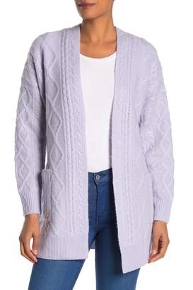 Magaschoni Long Sleeve Cashmere Cable Knit Cardigan