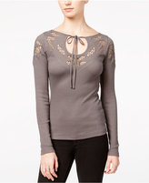 Free People With Love Crochet-Detail Top