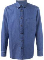 Brioni button down collar denim shirt