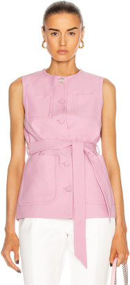 Gucci Sleeveless Belted Vest in Lilac Rose & Mix | FWRD
