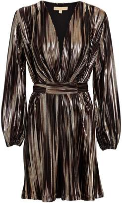 Melissa Odabash Banks Metallic Stripe Mini Dress