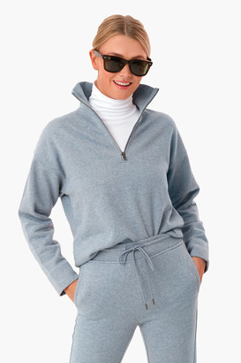 Vince Pierro Blue Half Zip Pullover