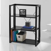 Blu Dot Wooden Folding and Stacking Bookcase in Black