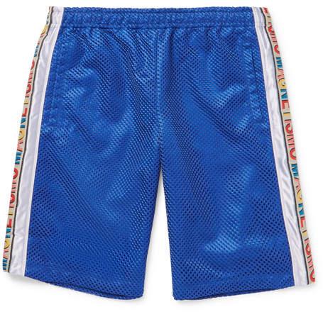 Gucci Striped Mesh And Satin Drawstring Shorts