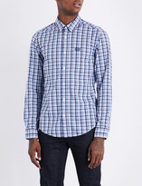 BOSS GREEN Checked cotton shirt