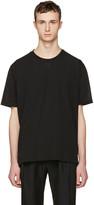 Lanvin Black Woven Front T-Shirt