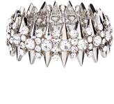 Love Rocks Crystal & Silvertone Spike Stretch Bracelet