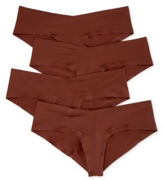 Undies.com Women's No Show Microfiber Hipster Cheeky Panties, 4-Pack