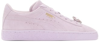 Puma G JR Suede Jewel Lace-Up Leather Trainers