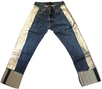 KENDALL + KYLIE Blue Cotton Jeans for Women