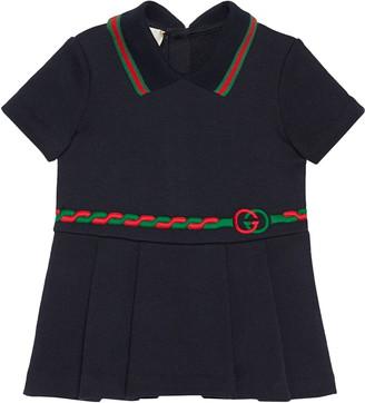 Gucci Trompe l'Oeil Belt Polo Dress