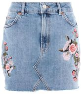 Petite blossom embroidered skirt