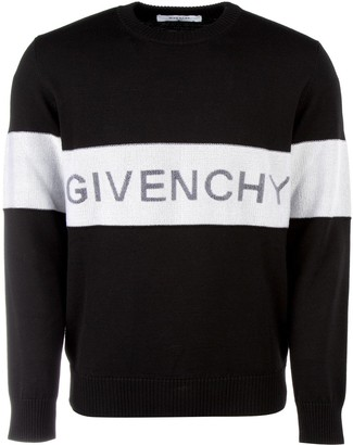 Givenchy Contrast Stripe Logo Sweater