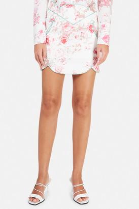 For Love & Lemons Weston Denim Mini Skirt
