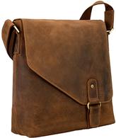 Visconti Tan Buckle Leather Messenger Bag