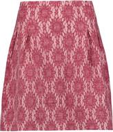 Maje Guipure lace mini skirt