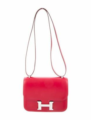 Hermes 2020 Tadelakt Mini Constance 18 Rouge