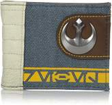 Bioworld Men's Star Wars Rogue One Rebel Mixed Material Bi-fold Wallet