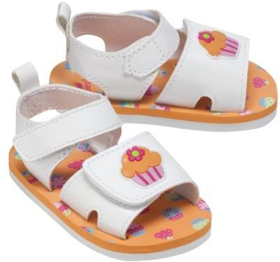 Gerber Newborn Girls' Cupcake Sandal - White