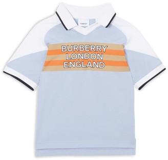 Burberry Kids Cotton Logo Stripe Polo Shirt (3-12 Years)