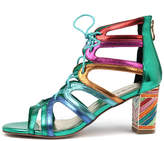 Django & Juliette Niche Bright metallic multi Shoes Womens Shoes Casual Heeled Shoes