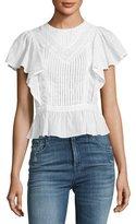Rebecca Minkoff Malibu Pinstripe Cotton Top, Multi