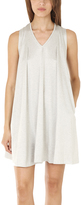 3.1 Phillip Lim Gathered Shoulder V Neck Dress