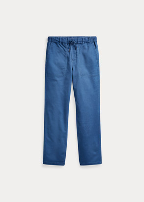 Ralph Lauren Tapered Stretch Cotton Pant