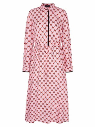 Markus Lupfer Blair Iconic Lip Drawstring Waist Dress - Pink / 8