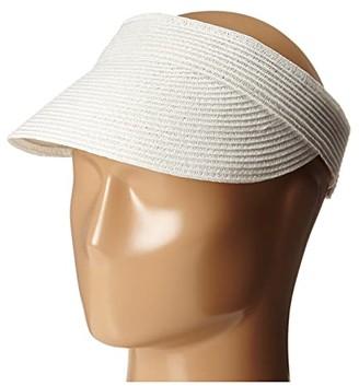 Scala Paper Braid Visor (White) Casual Visor